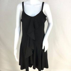 NWT Black Front Ruffle Chest to Hem Dress See pic